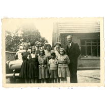 Familie Mabilde op vakantie bij de familie Strobbe, Gentbrugge, 1954