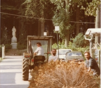 Bomen rooien, PC Caritas, Melle, jaren 1970.
