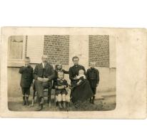 Postkaart van de boerderij PC Caritas, Melle, 1910-1913.