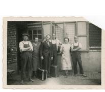 Achiel Floré vertrekt naar Duitsland, Lochristi, 1941