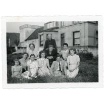 Familie Van Eeckhaute, Lochristi, begin 1940