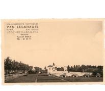 Achterkant bloemisterij Van Eeckhaute, Lochristi, jaren 1960