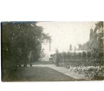Zicht op Steenweg, Sint-Lievens-Houtem, 1920
