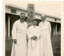Pater Alfons Mabilde en pater Jacques, Belgisch-Congo, ca. 1954