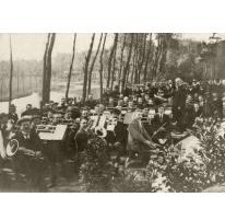 Optreden Harmonie Heusden aan Scheldearm, 1914