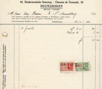 Factuur bloemisterij Sonneville, Destelbergen, 1936