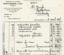 Factuur bloemisterij St.-Fiacre, Destelbergen, 1927