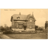 Ansichtkaart bloemisterij De Wever, Heusden, 1920-1940
