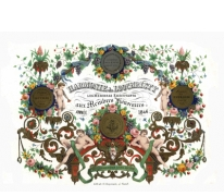 Porseleinkaart aan ereleden Harmonie Lochristi, 1846
