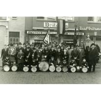 Harmonie Heusden tijdens Sint-Ceciliafeesten, 1960