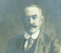 Portret François Piens, Destelbergen, begin 20e eeuw