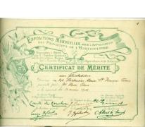 Certificaat van hortensiasoort, Destelbergen, 1936