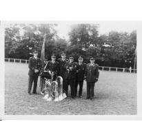 Groepsfoto Harmonie Willen is Kunnen Lochristi, Epinay-Sur-Seine, 1969