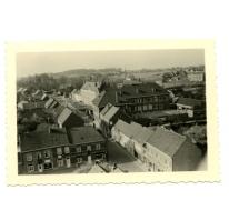 Zicht vanuit de kerktoren, Oosterzele, jaren 1960-1970