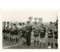 Viering van de spelers van voetbalclub 'De Landstormers', Letterhoutem, ca. 1969-1970