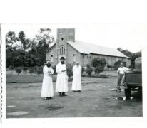 Pater Alfons Mabilde, Kimpagu Belgisch-Congo, ca. 1950-1960.