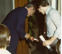 Opening tentoonstelling Bouwvakambachten, viering 30 jaar de Gilde, 1976