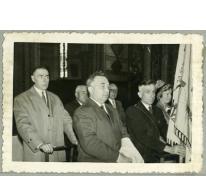 Eucharistieviering en inwijding nieuwe Gildevlag, Merelbeke, 1961