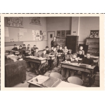 Schoolfoto met meester Walter De Pauw