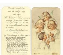 Herrinnering a.d. Eerste H. Communie van Eddy Van Cauwenberge, Balegem 02.06.1949