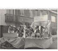 Bacchusstoet met praalwagen, Sint-Lievens-Houtem, 1961