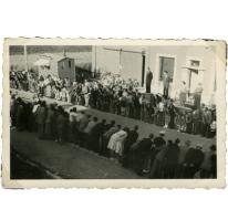 Arrivée Grote Prijs beroepsrenners, Scheldewindeke, 1951
