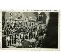 Aankomst Grote Prijs beroepsrenners, Scheldewindeke, 1951