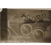 Albert en Rachel De Smet op de kermis in Amiens, 1926