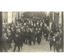 Begrafenis vermoorde commissaris Gentil Demeyer, Melle, 1920