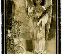 Bidprentje van Leonie Germaine Delclef, Sint- Lievens- Houtem, 1929