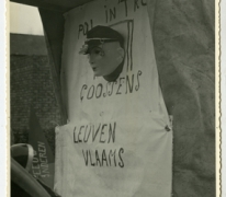 Wagen in de Bacchusstoet Leuven Vlaams, Sint- Lievens- Houtem, 1968