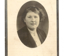 Bidprentje Francine Geers, Gentbrugge, 1937