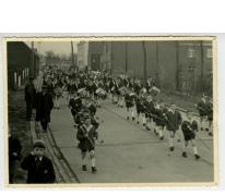 Jeugdfanfare tijdens de Bacchusfeesten, Sint- Lievens- Houtem, 1960-1970