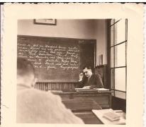 Roger Otte geeft les, English Club, Gent, 27 juni 1954