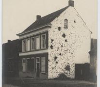 Gebombardeerd huis te Kwatrecht, Melle, 1914-1915