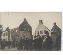 Huizen uitgebrand tijdens veldslag te Kwatrecht, Melle, 1914