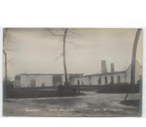 Uitgebrande hoeve, Kwatrecht, Melle 1914-1915