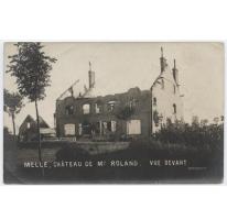 Kasteel Mr. Roland, vooraanzicht, Melle, 1914-1918