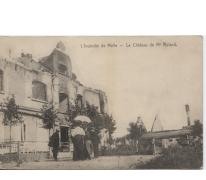 Uitgebrand kasteel Mr. Roland, Melle, 1914-1918