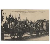 Belgische troepen vertrekken naar het front, 1914
