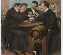Achterzijde postkaart, Berlijn, 1905