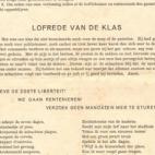 Afscheidsbrief na afloop van legerdienst, Oosterzele, 1948