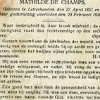 Bidprentje van August De Moor, Letterhoutem, 1930